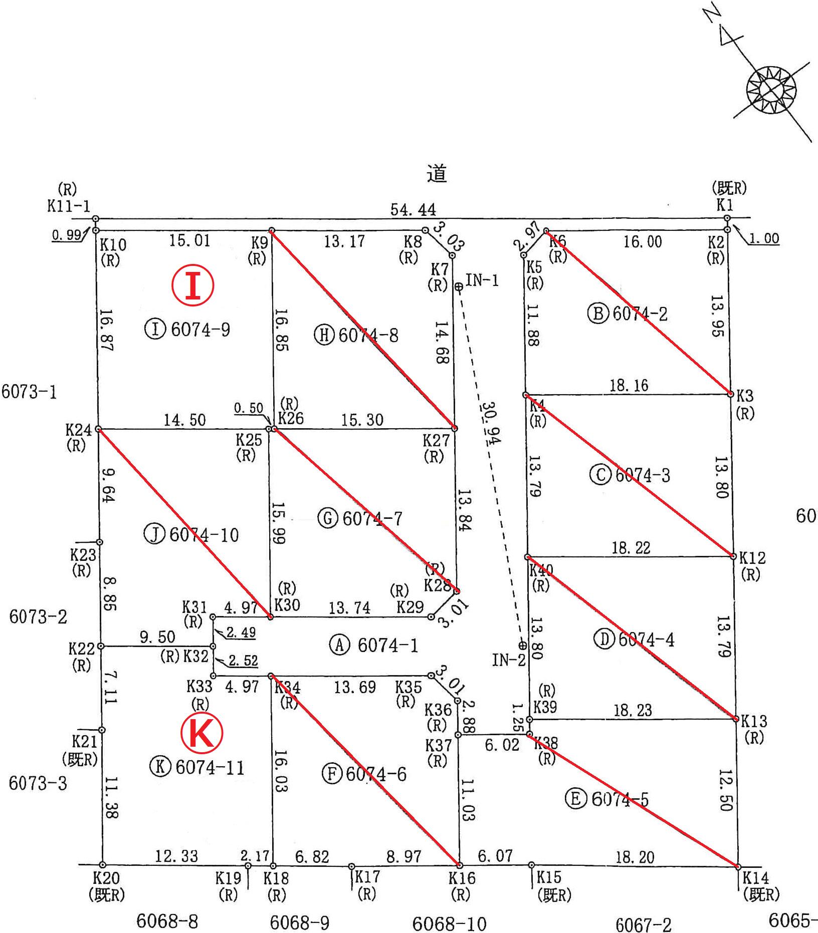太郎坊第二分譲地(建築条件付10区画) | 図面
